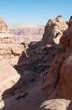 Petra, Archeologiczny park, Jordania, Środkowy Wschód Obrazy Royalty Free