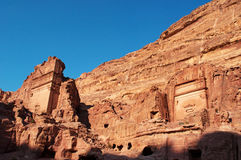 Petra, Archeologiczny park, Jordania, Środkowy Wschód Zdjęcie Stock