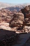 Petra, Archeologisch Park, Jordanië, Midden-Oosten Royalty-vrije Stock Fotografie