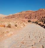 Petra, Archeologisch Park, Jordanië, Midden-Oosten royalty-vrije stock foto