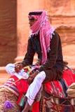 PETRA bédouin de tribu Image stock