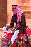 Petra beduino de la tribu imagen de archivo