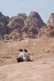 Petra-berg, södra Jordanien Arkivfoton