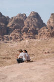 PETRA-Berge, Süd-Jordanien Stockfotos