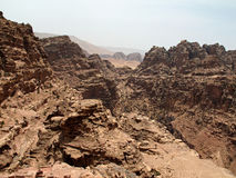 petra canyon Fotografia Stock Libera da Diritti