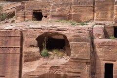 Petra Cave com etapas Fotos de Stock Royalty Free