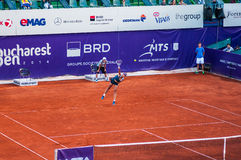 Petra Cetkovska playing the QF of Bucharest Open WTA Royalty Free Stock Photo