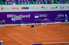 Petra Cetkovska playing the QF of Bucharest Open WTA Stock Photo