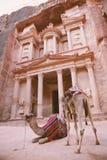 Petra - ciudad antigua Fotografía de archivo