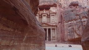 Petra - ciudad antigua, Jordania almacen de metraje de vídeo