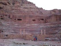PETRA-colosseum Stockbilder
