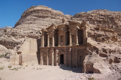 PETRA das Kloster Stockfoto