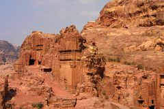 PETRA de Nabatean, Jordanie Image libre de droits