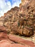 Petra, de rotsen van Jordanië royalty-vrije stock afbeelding