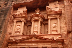 Petra - de schatkist royalty-vrije stock afbeelding