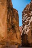 PETRA del canyon Fotografia Stock Libera da Diritti
