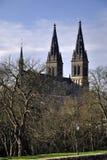 Petra del st de la iglesia un Pavla en Vysehrad Foto de archivo