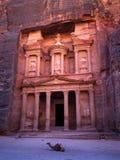 Petra el Khaznet Imágenes de archivo libres de regalías