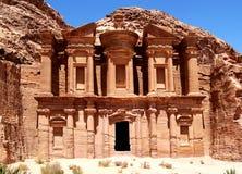 Petra, el monasterio Fotografía de archivo