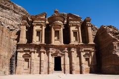 PETRA em Jordão fotografia de stock