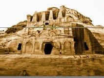 PETRA em Jordão - túmulos Foto de Stock