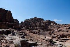 Petra en Jordania fotografía de archivo