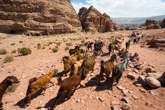 PETRA en Jordanie photographie stock