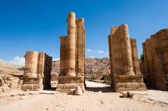 PETRA en Jordanie images libres de droits
