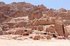Petra för forntida stad, Jordanien Arkivfoton