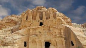 PETRA, Giordania, Medio Oriente -- è un simbolo della Giordania come pure il ` s della Giordania più-ha visitato l'attrazione tur video d archivio