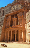 Petra grave. Best known temple of petra Royalty Free Stock Photography