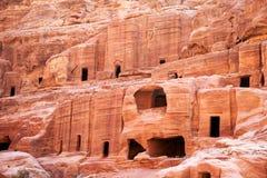 PETRA, Höhlewohnungen Lizenzfreie Stockfotos