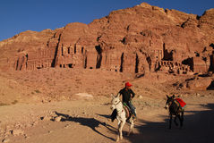 Petra in the Hashemite Kingdom of Jordan Stock Photos