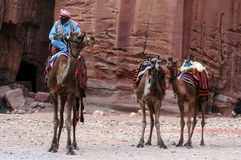 Petra in the Hashemite Kingdom of Jordan Stock Photo