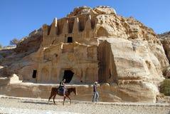 Petra in het Hashemite Koninkrijk van Jordanië Stock Afbeelding