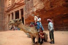 Petra in het Hashemite Koninkrijk van Jordanië royalty-vrije stock foto