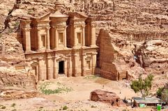 Petra, the Lost city in southern Jordan. Petra is a historical and archaeological city in southern Jordan. The city is famous for its rock-cut architecture and royalty free stock photos