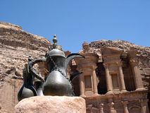 Petra ii. Ancient ruins of petra royalty free stock images