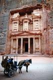 PETRA - Jordão Fotos de Stock Royalty Free