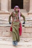 PETRA, JORDAN – December 25th, 2015: Royal soldier guarding the city Royalty Free Stock Images