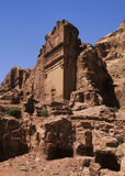 Petra in Jordan. Petra, in Jordan, was the center of the Nabatean civilization in the Middle East from about the 6th century BC to the 7th century AD.  Ancient Royalty Free Stock Photo