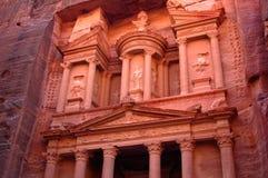 Petra in Jordan. Ancient temple of Petra built in Jordan Stock Photos
