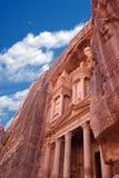 Petra in Jordan. Ancient City of Petra Built in Jordan Royalty Free Stock Images