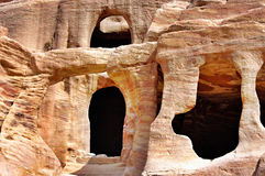 Petra, Jordan. Ancient ruins in  Petra, Jordan Royalty Free Stock Image