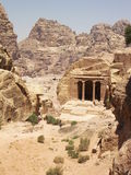 Petra, Jordan. Archaeological site of Petra in Jordan surrounded by beautiful mountains Stock Image
