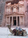 Petra, Jordan. Archaeological site of Petra in Jordan surrounded by beautiful mountains Stock Photography