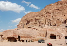 Petra in Jordan. City carved out of the rock Stock Photography