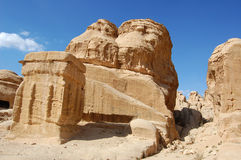 Petra in Jordan. City carved out of the rock Royalty Free Stock Photography