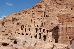 Petra in Jordan. City carved out of the rock Royalty Free Stock Photos