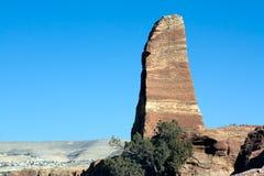 Petra - Jordan. Obelisk in Petra, Jordan. Nabataeans capital city (Al Khazneh). Roman Empire period Stock Photography